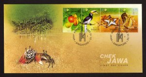 Singapore Stamp FDC 2004 Chek Jawa Care for Nature - Includes Detailed Insert