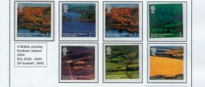 20O4 BRITISH JOURNEY NORTHERN IRELAND FULL SET INC SELF-ADHESIVE UMM