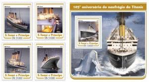 Z08 ST17209ab Sao Tome and Principe 2017 Titanic MNH ** Postfrisch Set