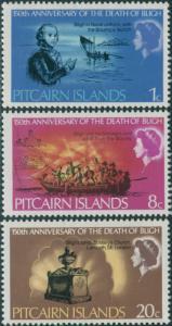 Pitcairn Islands 1967 SG82-84 Admiral Bligh death set MNH