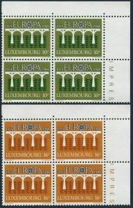 Luxembourg 708-709 blocks/4,MNH.Michel 1098-1099. EUROPE CEPT-1984,Bridge.