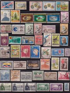 90 Different Used Colombia Airmail issued 1932 to 1967 - I Combine S/H