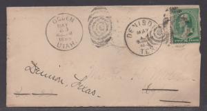 **US 19th Century Cover Scott #213, Ogden, UT, 5/23/1889 To Texas