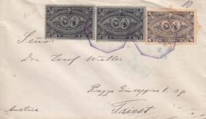 1897, Guatemala to Trieste, Austria, Stationary, UPU Rate, See Remark (2271)