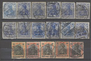 COLLECTION LOT # 4940 GERMANY 17 STAMPS 1905+ CLEARANCE CV+$25