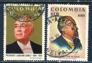 Colombia; 1972: Sc. # C575-C576: O/Used Cpl. Set