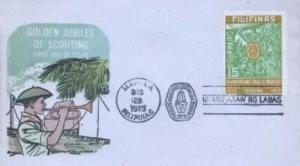 PHILIPPINES - SCOUTING GOLDEN JUBILEE - Overseas Mailers