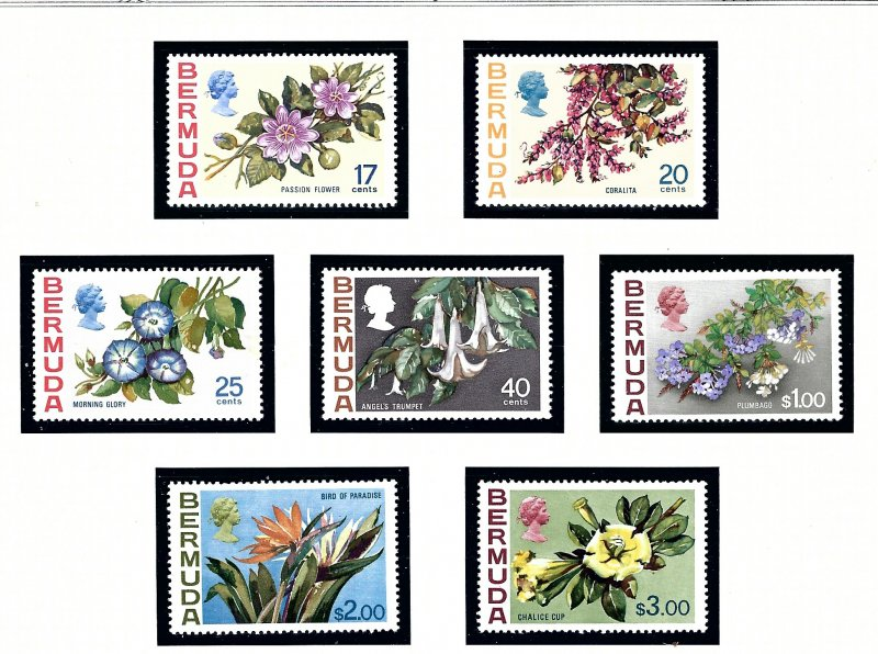 Bermuda 322-28 MNH 1975 Flowers