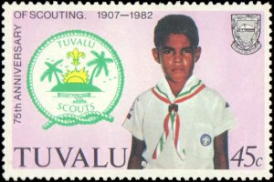 Tuvalu #176-179, Complete Set(4), 1982, Scouts, Never Hinged