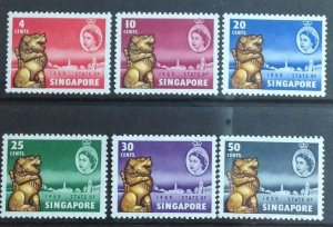SINGAPORE 1959 NEW CONSTITUTION SG53/58 LIGHTLY MOUNTED  MINT