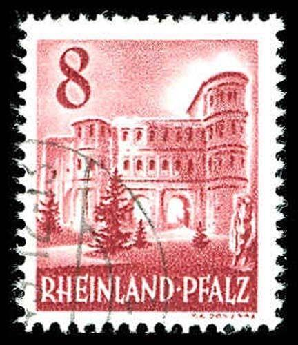 GERMAN OCC. OF RHINE PAL. 6N33A  Used (ID # 73429)
