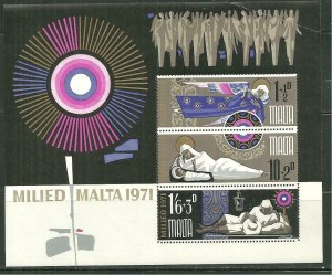 Malta MNH S/S B9A Christmas 1971