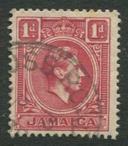 Jamaica -Scott 117 - KGVI Definitive -1938 - Used - Single 1p Stamp