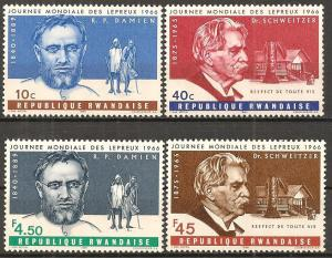 Rwanda #143-6 Mint Never Hinged F-VF CV $2.75 (ST625)