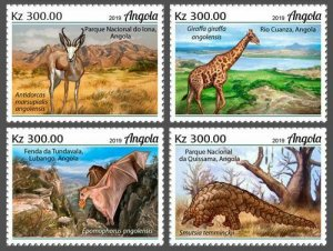 Z08 IMPERF ANG190204a Angola 2019 Endemic animals MNH ** Postfrisch