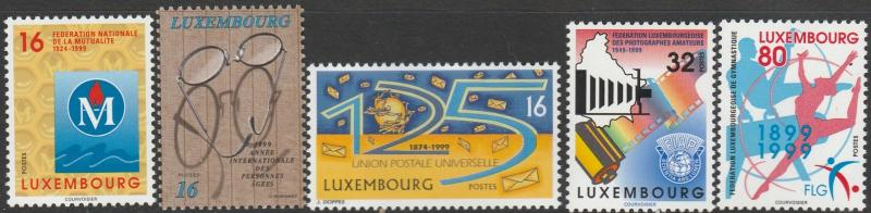 Luxembourg, #1010-1014 Unused From 1999