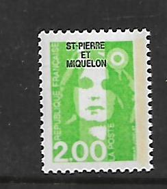 ST. PIERRE & MIQUELON, 526, MNH, FRANCE OVPTD ST. PIERRE ET MIQUELON