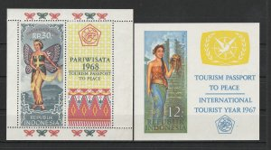 Indonesia MH 2-S/S Tourism 1967 &1968