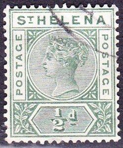 ST HELENA 1897 QV 1/2d Green SG46 FU