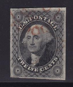 17 VF used neat brown face free cancel with nice color cv $ 300 ! see pic !