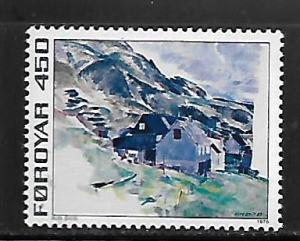 FAROE ISLANDS, 19, MINT HINGED, HOUSES