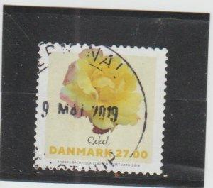 Denmark  Scott#  1796  Used  (2018 Rose)