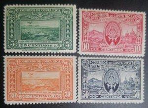 J) 1935, COSTA RICA, III CENTENARY OF NUESTRA SEÑORA DE LOS ANGELES AND AERIAL V