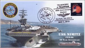2015, USS Nimitz, Naval, 40 year Annive., Pictorial, event, 15-143