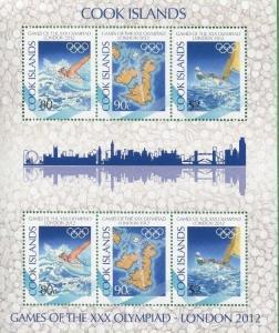 COOK ISLANDS #1415b Souvenir Sheet / Olympic Games 2012 London - 11