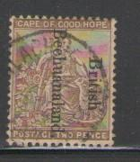 Bechuanaland Protectorate Sc 39 1895 2 d bistre stamp used