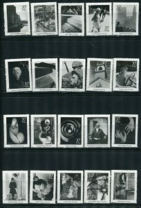 US # 3649 a - t 37¢ American Photography Complete Set!