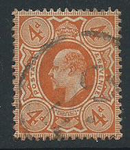 GB Edward VII SG 278 VFU