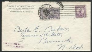 USA 1932 SPECIAL DELIVERY cover Northwood to Bismark N Dakota..............61878