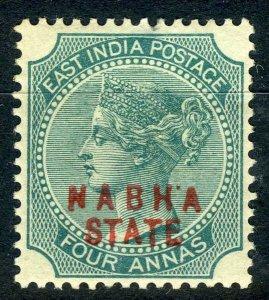 India - Nabha 1885-1900 4a MM SG12 cat £80