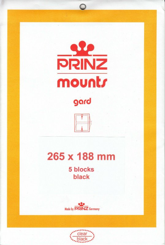 PRINZ 265X188 (5) BLACK MOUNTS RETAIL PRICE $14.00