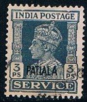 India Patiala O8, 3p Overprint, used, VF
