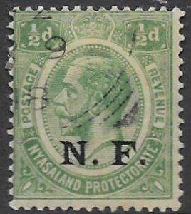 German E Afr. N 101  1916   1/2d  OP N.F.  fine used