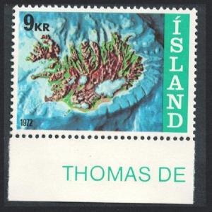 Iceland Iceland's Offshore Claims 1v Bottom Margins SG#499