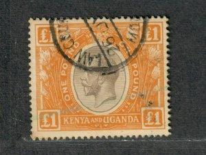 Kenya Uganda Sc#37 Used/VF, Revenue Cancel, Cv. $20