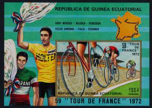 Equatorial Guinea MIBK 73 MNH Sports Tour de France, Cycling, Map
