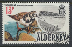Alderney  SG A14  SC#  14   Birds Used First Day Cancel - as per scan