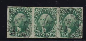 14 XF strip of 3 sound used neat cancel with nice color cv $ 700 ! see pic !