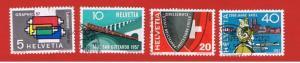 Switzerland #359-362 VF used Printing  Free S/H