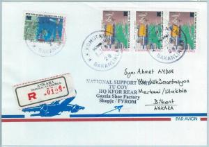 66963 - TURKEY - Postal History -  Turkish Peace Forces in MACEDONIA - SFOR 2001