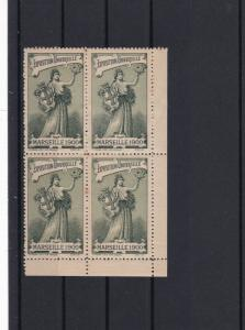 Marseille 1900 Universal Exposition Mint Never Hinged Stamps Block Ref 27269
