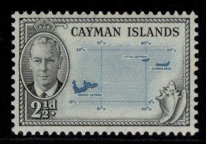 CAYMAN ISLANDS GVI SG140, 2½d turquoise & black, M MINT.