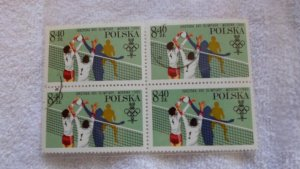 1980 POLAND BLOCK OF 4 STAMPS. CTO. MNH.