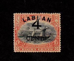 Labuan - 1899 - SC 89 - H - Regular Issue - Surcharged