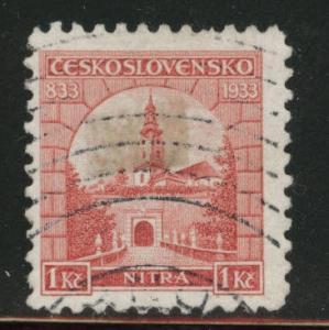 CZECHOSLOVAKIA Scott 193 Used stained stamp