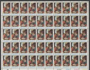 #1414 VAR 6c CHRISTMAS SHEET/50 W/ PPF ERRORS ON 12 STAMPS WLM6287